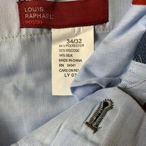Louis Raphael Pants - LOUIS RAPHAEL ROSSO Taupe Luxury Twill Dress Pant.